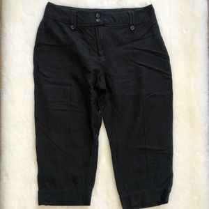 Reitmans Black Linen Crop Pants
